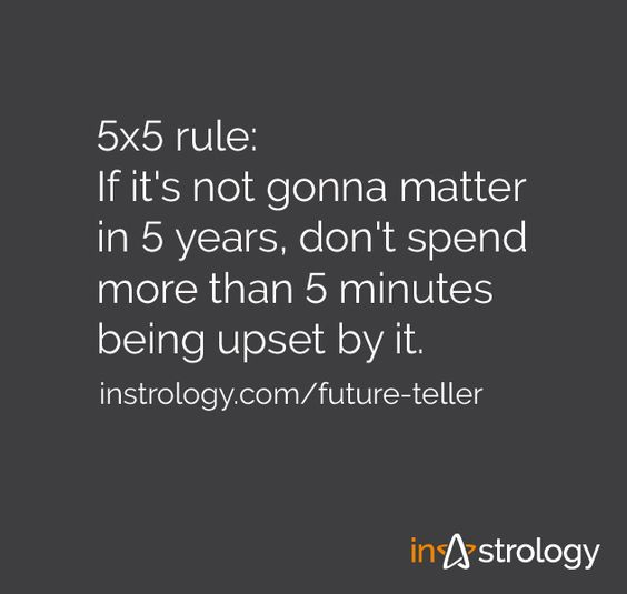 Instrology quotes: 5x5 rule