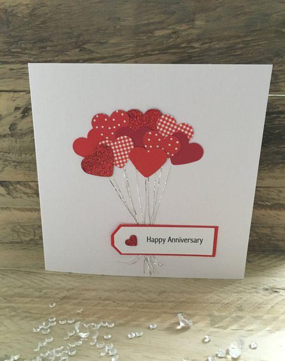 Handmade Anniversary Card Anniversary Wife Husband Girlfriend Boyfriend Mum Dad