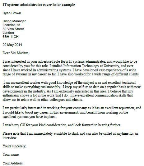 Job Application Letter Template Uk