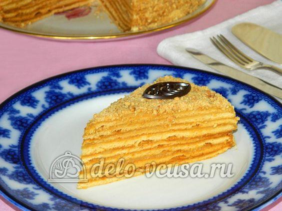 Торта медовик с заварным кремом с рецепт пошаговый