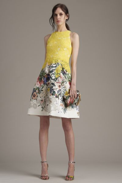 vestidos estampados cortos para boda