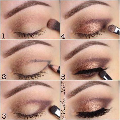 How To: Step By Step Eye Makeup Tutorials And Guides For Beginners #beautymakeupforbrowneyes #Eyemakeuptipsandtricks #BeginnerMakeupTips