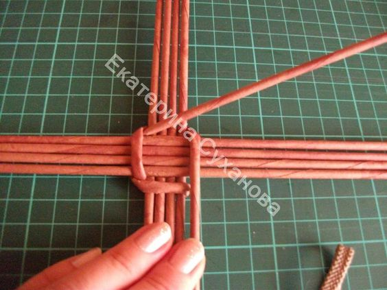 Видео плетение корзинок из бумаги для начинающих