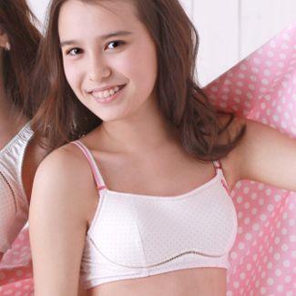 Teen wearing bra