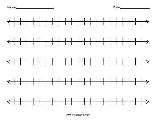 Blank 0 50 Number Line | 2017 Calendar