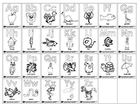 Letters Printable Color Coloring Pages Alphabet