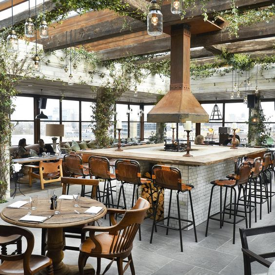 Indoor and outdoor seating