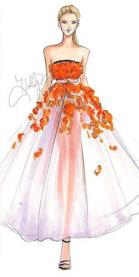 Платье рисунки