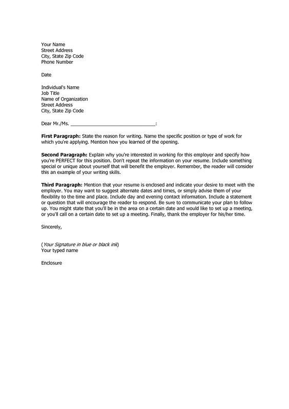 Job Application Letter Sample For It