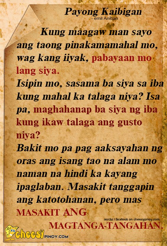 Write my essay tagalog love