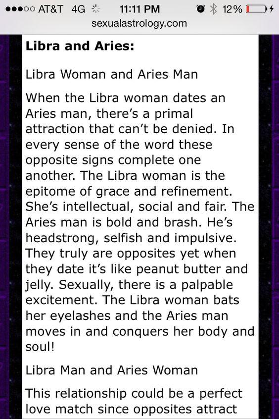 Aries man dating libra woman