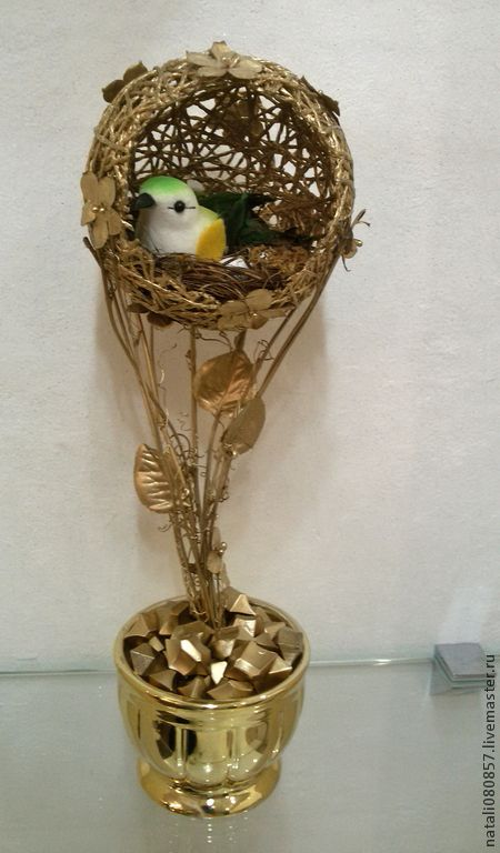 Топиарий гнездо из кофе мастер класс пошагово