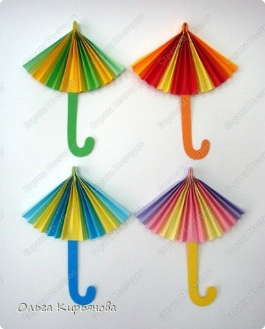 Как сделать поделку зонт
