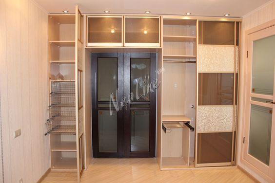 Встроенный шкаф с дверцами своими руками