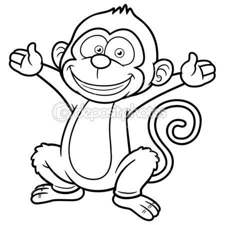 Раскраска обезьяна с новым годом
