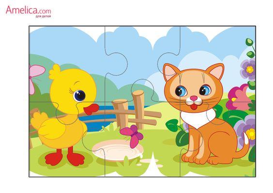 Пазлы для детей распечатать бесплатно, пазлы для малышей скачать Пазлы для детей и головоломки Pinterest
