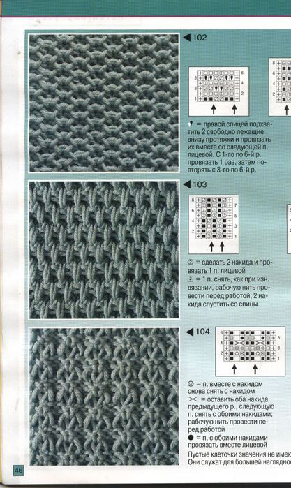 Фото и схема вязания спицами