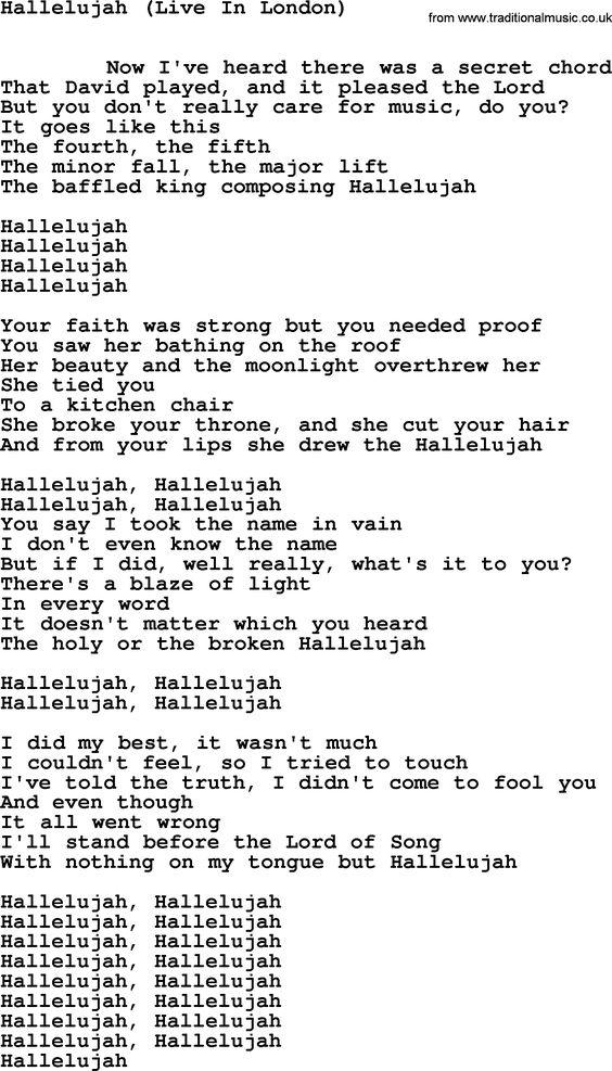Exelent Hallelujah Chords Leonard Cohen Guitar Motif Song Chords