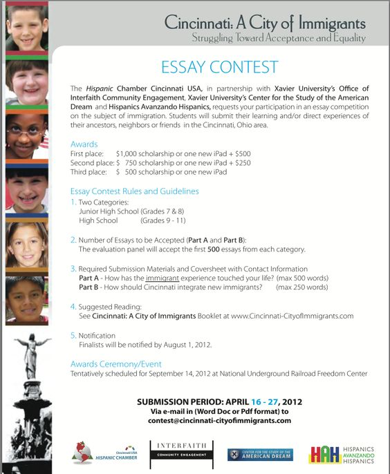 essay contest for international students 2012