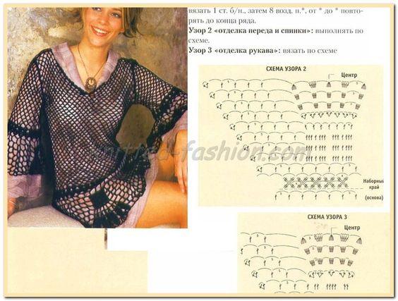 Схемы вязания крючком описанием для начинающих купальник
