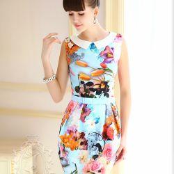 vestidos floreados juveniles con manga