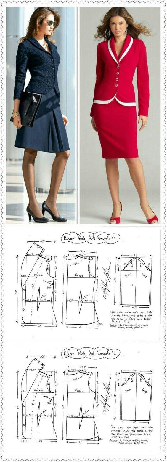 Выкройка пиджака модного