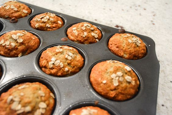 Amanda shares a recipes for healthy muffins on the go! These oatmeal banana muffins are great for grabbing in the morning on the way to work.