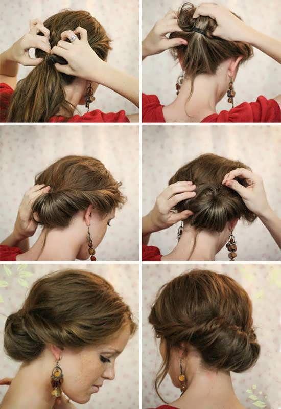 Причёска на короткие волосы своими руками за 5 минут
