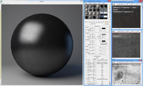3ds max черный матовый материал