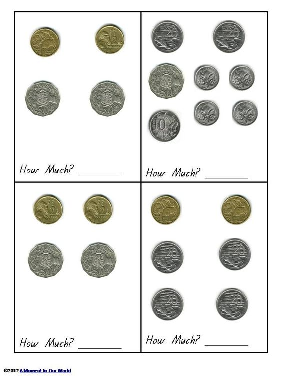 Australian money counting change worksheets