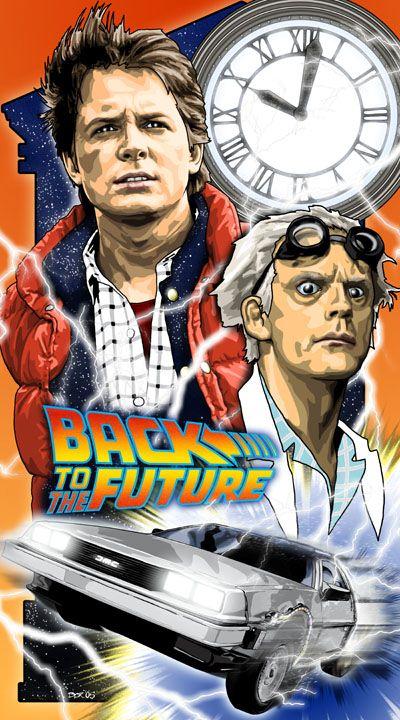 Обои для рабочего стола по фильму назад в будущее 1985 (back to the future 1985)