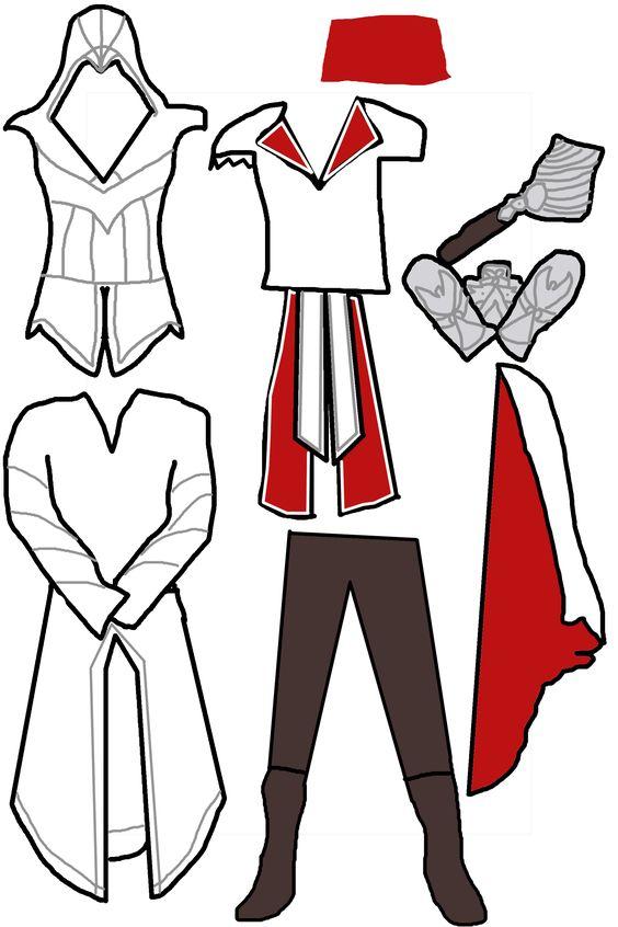 Как сделать костюм ассасина в домашних условиях из бумаги