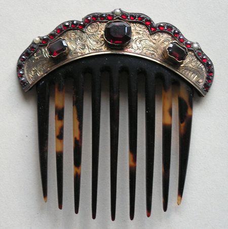Topaz star swarovski crystal hair comb