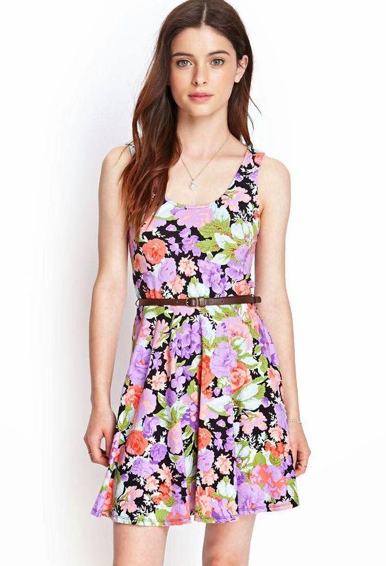 vestidos floreados juveniles