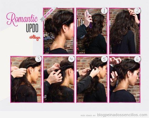 peinados sencillos pelo largo ondulado