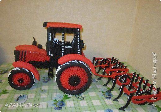 Поделки из бумаги тракторы