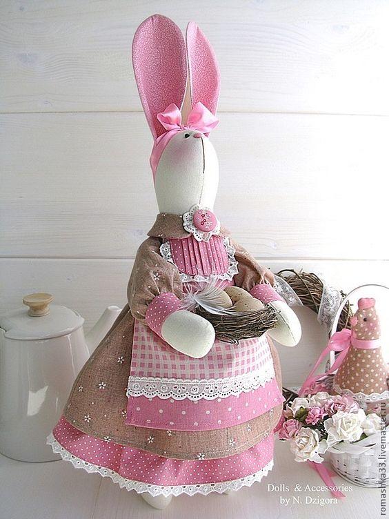 Выкройка кролика, выкройка зайца, зайчиха, сувенир к пасхе
