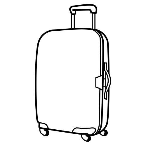 Travel Fiar Suitcase With Wheels Free Colouring Pages