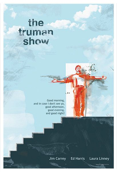 The Truman Show Alternative Movie Poster - Original Illustration