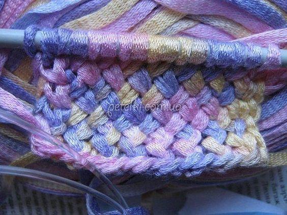 Ленточное вязание спицами