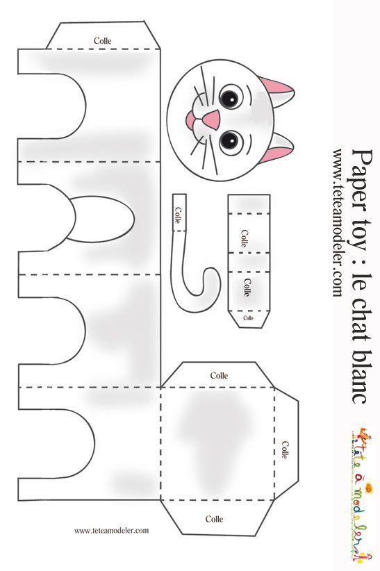 Объемная поделка своими руками из бумаги с шаблонами