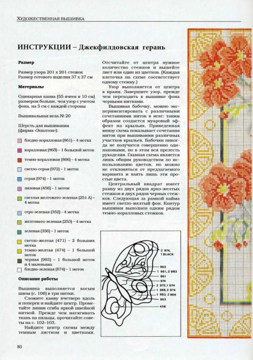 Схемы с инструкциями вышивок