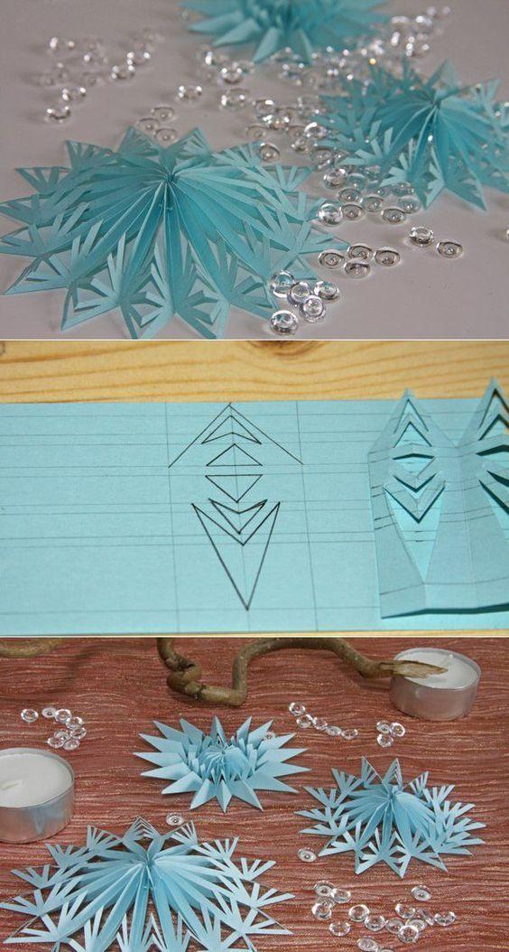 Как сделать снежинку из бумаги 3 класс