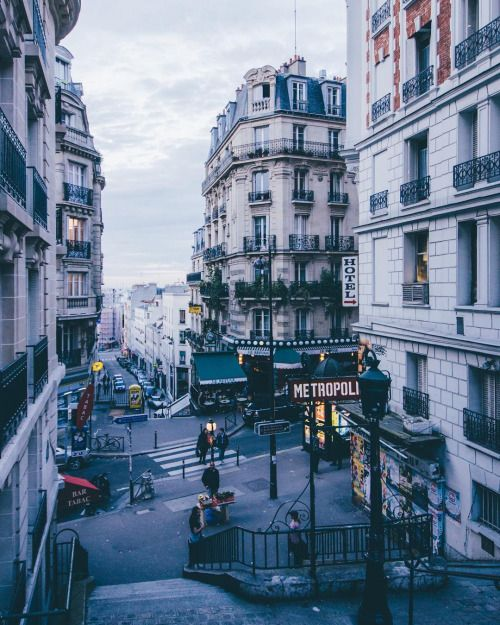 Rue Lamarck, Montmarte - Paris, France. I loved Paris. Riding the metro was so convenient! Watch for pickpockets!!: