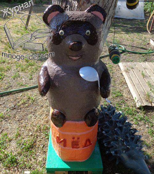 Медведь своими руками из пластиковых бутылок своими руками