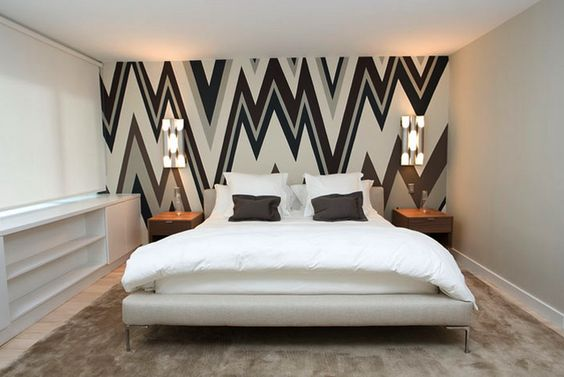Graphic Wall Painting Techniques Decorating Ideas Pinterest