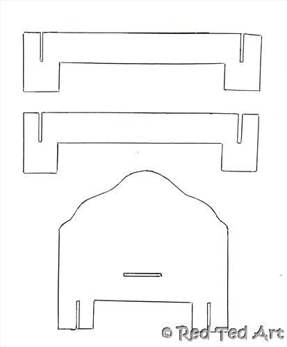 Мебель для кукол барби своими руками из картона шаблон 4