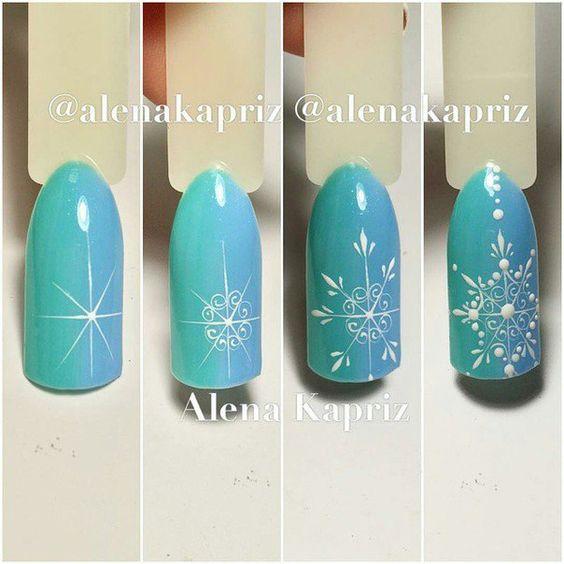 Дизайн новогодних ногтей на короткие ногти