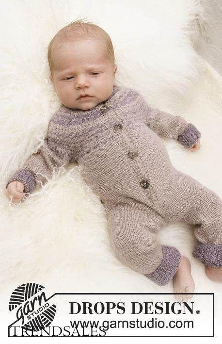 Вязание комбинезон для новорожденных спицами 0-3 месяцев