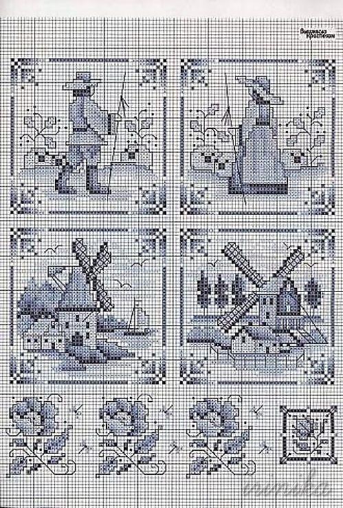 Голландские схемы для вышивки крестом